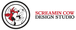 Screamin Cow Design Studio Logo